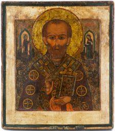 0305 St Nicholas; Russian; 18th cent;.  35.5x30 x2.5;     £ 1750
