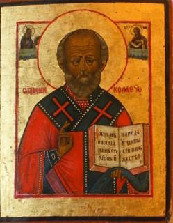 0303 St Nicholas; Russian; 19th cent.; 30x23.4 x2.5;      £ 1200