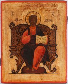 0104 Christ Enthroned; Russian; 19th cent.; 41x32.5x3 cms.