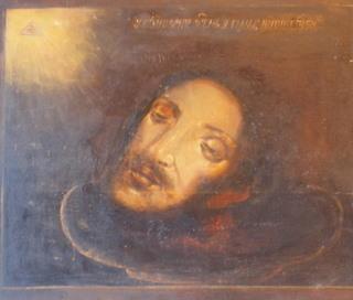0309 Head of John the Baptist; Russian ; 19/20 cent.; 53.5x33x2.5 cms;      £550