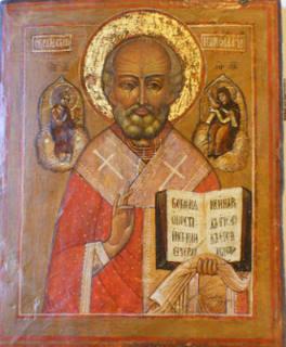 0313 St Nicholas; Russian; 18th cent.; 33x27 x2.5;     £1350