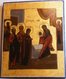 0614 Presentation of Christ; 19th cent.; 37.8x29.5 x2.5;      £1150