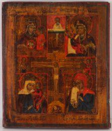 0210 Quartile of Four Virgins; Russian; 19th cent.; 30x26x2.1cms;     £ 960