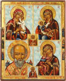 0246 lg Quartile of Three Virgins and St Nicholas