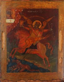 0413 Archangel Michael; Russian; 18th cent.; 33x26 x2.5;      £1100