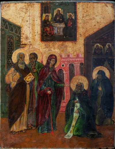 0501 Appearance of The Virgin to St Sergius